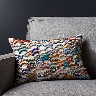 "Cortney 18""x12"" Pillow with Down-Alternative Insert"