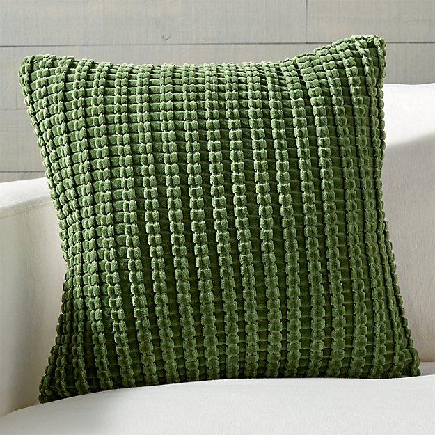 Green Velvet Throw Pillow Tyres2c