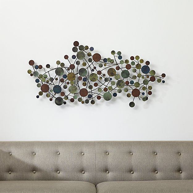 Metal Wall Sculpture cosgrove metal wall sculpture | crate and barrel