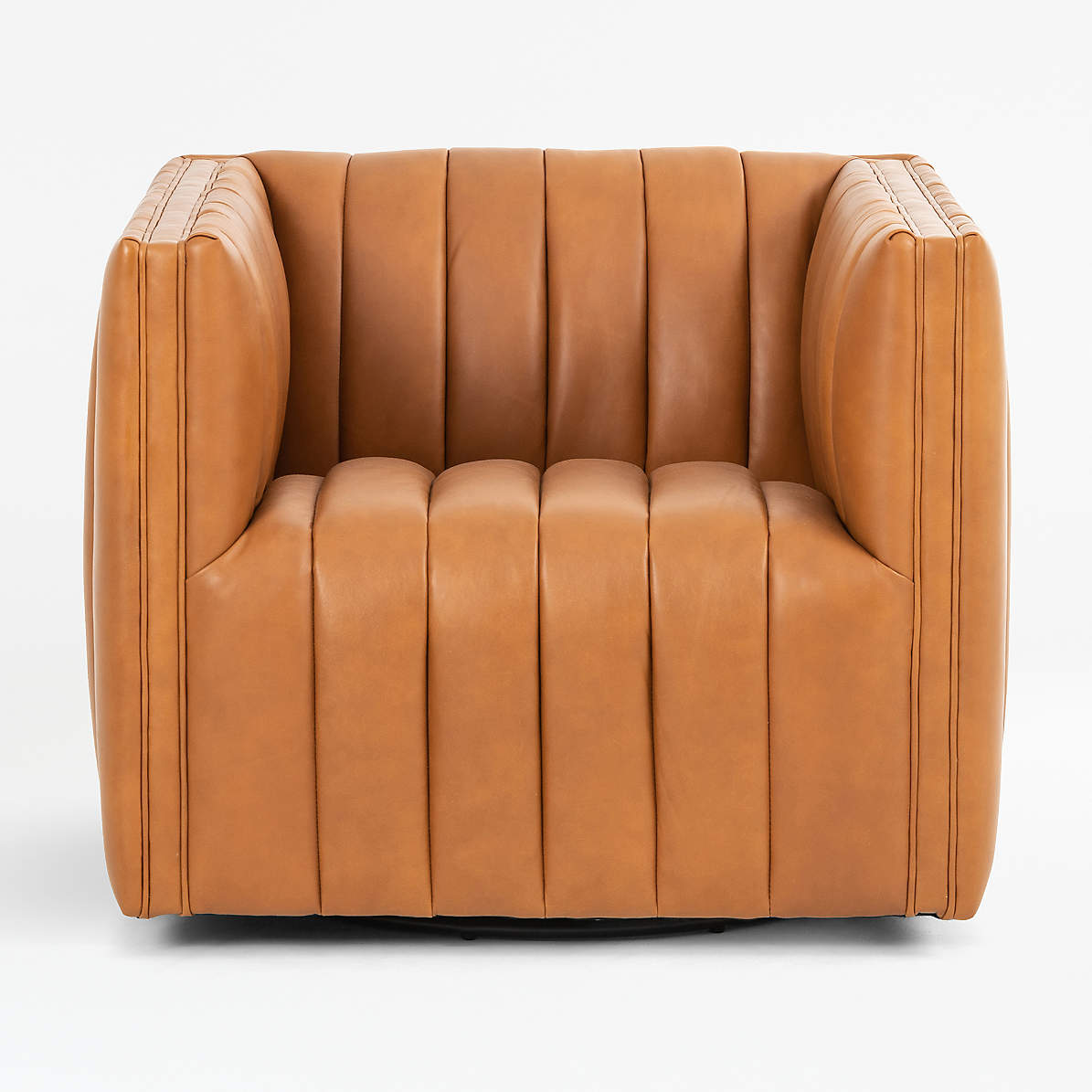 Cosima Leather Swivel Chair Crate And Barrel