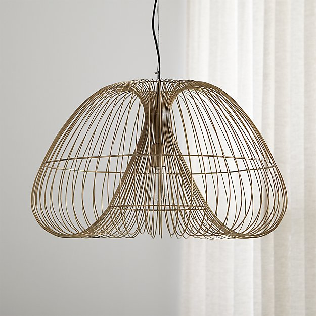 Cosmo brass wire pendant light reviews crate and barrel keyboard keysfo Gallery