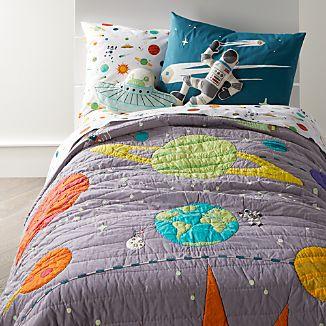 cosmos glow in the dark full queen quilt - Space Bedding