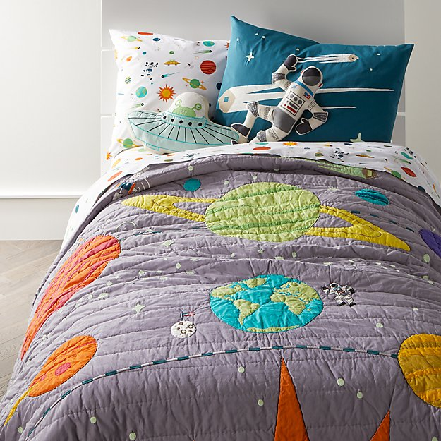 Popular Astronaut & Space Quilt Twin + Reviews | Crate and Barrel EX38