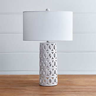 Cote White Ceramic Table Lamp