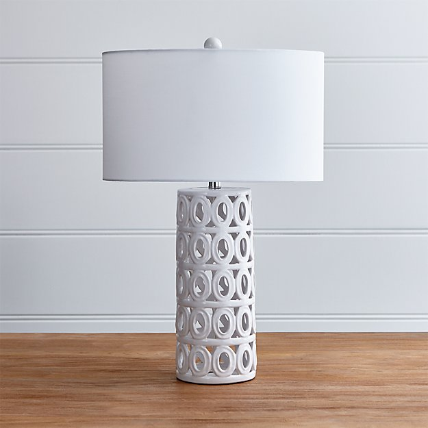 cote white ceramic table lamp reviews crate and barrel. Black Bedroom Furniture Sets. Home Design Ideas