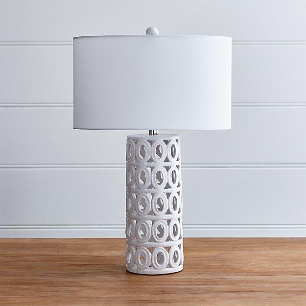 Cote White Ceramic Table Lamp - Image 1 of 12