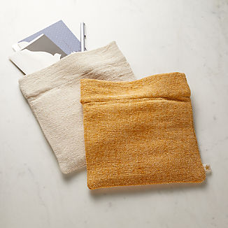 Cotton and Jute Zip Pouch