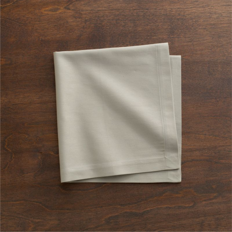 "Lustrous cotton napkin coordinates with any and every table setting. Napkin is tailor finished with 1"" hem and mitered corners.<br /><br /><NEWTAG/><ul><li>100% cotton</li><li>Machine wash, tumble dry; warm iron as needed</li><li>Made in India</li></ul>"
