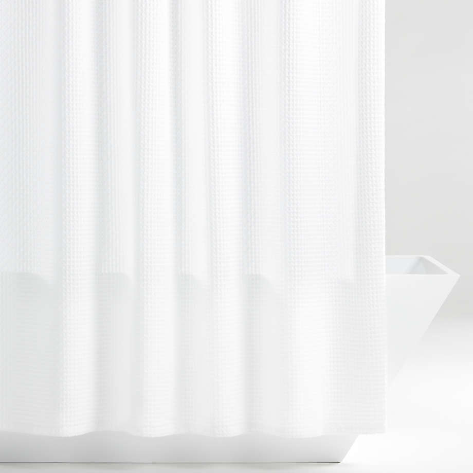 Organic Cotton Waffle White Shower