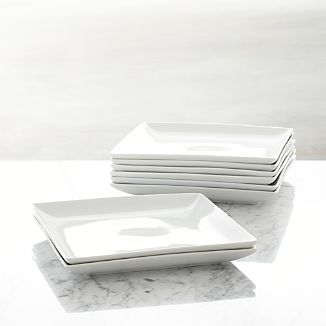Set of 8 Court Dinner Plates  sc 1 st  Crate and Barrel & Square Dinnerware Sets | Crate and Barrel