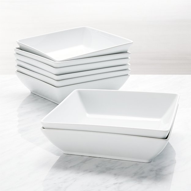 Court Low Bowls, Set of 8 - Image 1 of 2