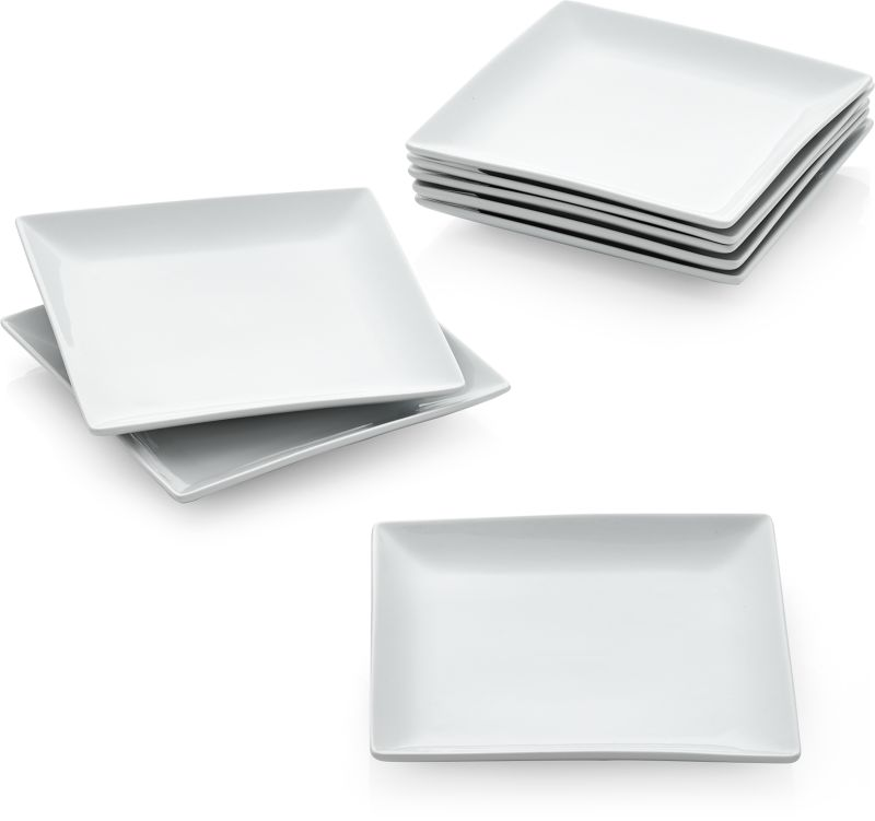 Court Salad Plates Set of Eight  sc 1 st  Crate and Barrel & Court Dinnerware collections | Crate and Barrel