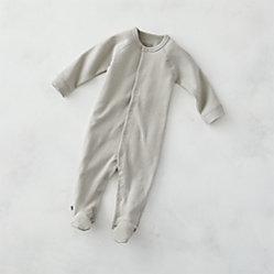 f165f4a638 Cozy Cotton Organic Navy Blue 0-3 Months Footie Pajamas + Reviews ...
