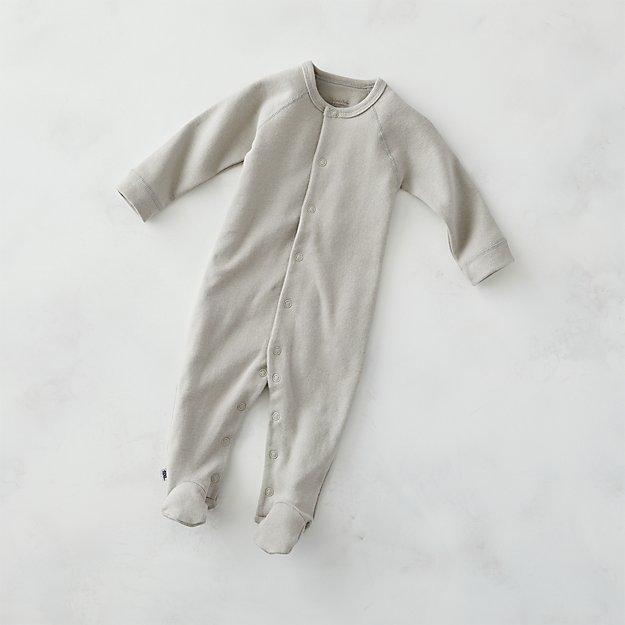 b57f5cb04 Cozy Cotton Organic Grey Footie Pajamas
