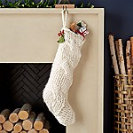 Cozy Ivory Knit Stocking