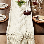 Cozy Knit Ivory 18 x120  Table Runner/Throw