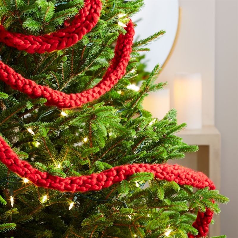 Cozy Knit Red Garland Reviews Crate And Barrel