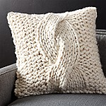 Cozy Knit Ivory 23  Pillow with Feather-Down Insert