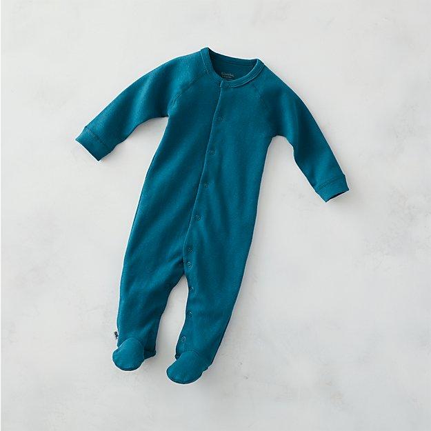 38b9ca6c14a1 Cozy Cotton Organic Navy Blue 0-3 Months Footie Pajamas + Reviews ...