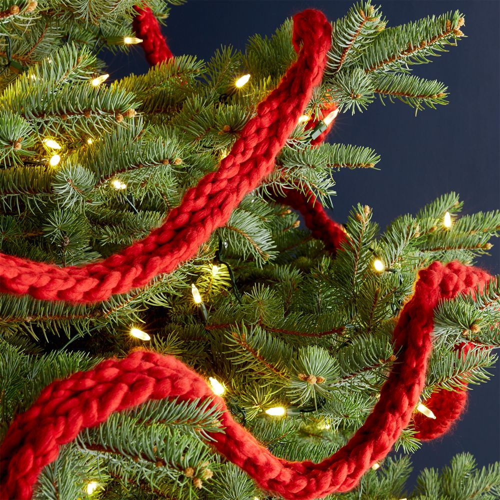 Cozy Knit Red Garland