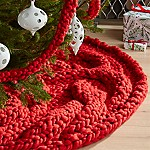 Cozy Knit Red Tree Skirt
