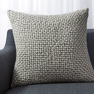 Cozy Weave Grey Pillow 23