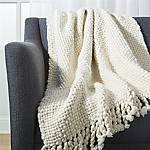 Cozy Weave Ivory Throw