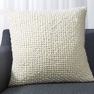 Cozy Weave Ivory Pillow 23