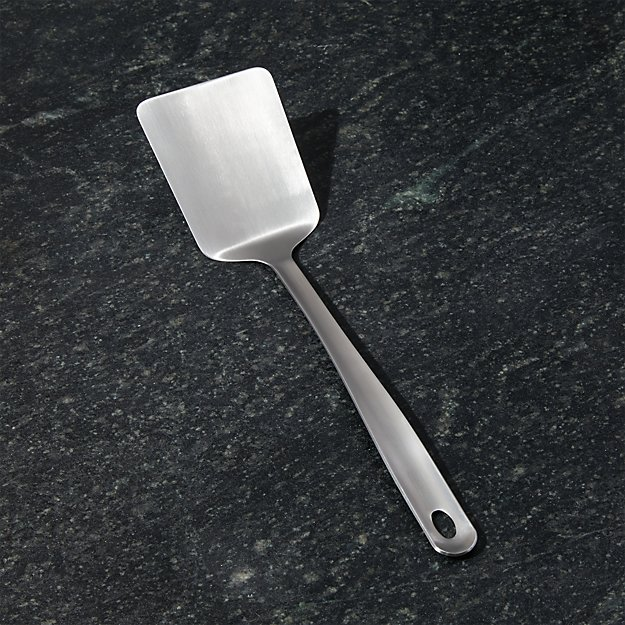 Crate and Barrel Brushed Stainless Steel Turner - Image 1 of 3