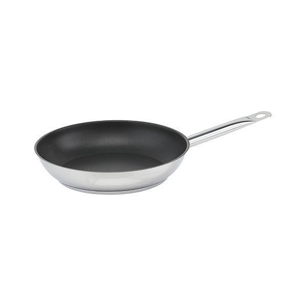 """Stainless Cookware 10"""" Non-Stick Frypan by Berndes for Crate and Barrel"""