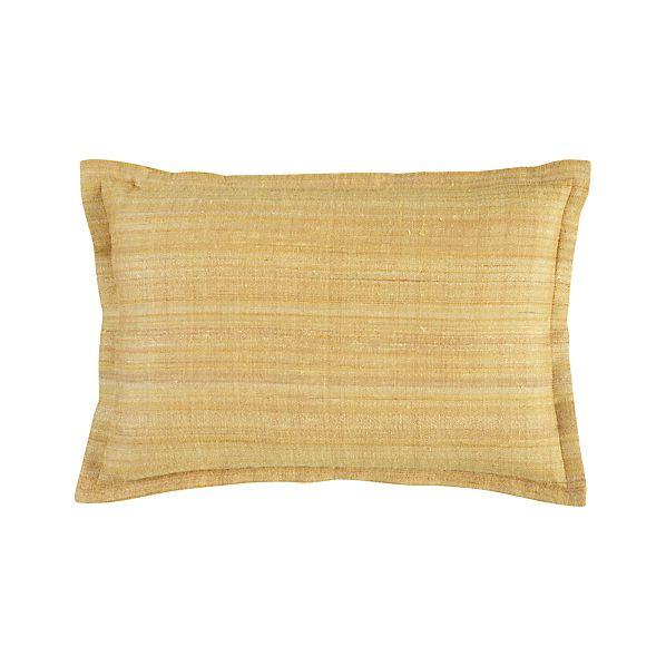 "Crawford Yellow 18""x12"" Pillow"