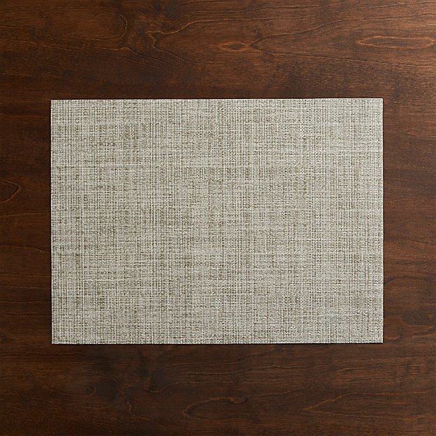 Chilewich Crepe Neutral Vinyl Easy Clean Placemat Reviews Crate And Barrel