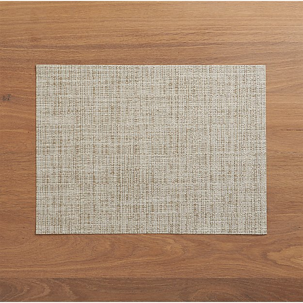 Chilewich ® Crepe Neutral Vinyl Easy Clean Placemat - Image 1 of 11