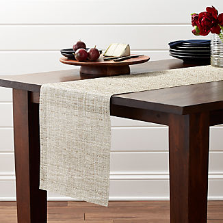Chilewich Crepe Neutral 72 Table Runner