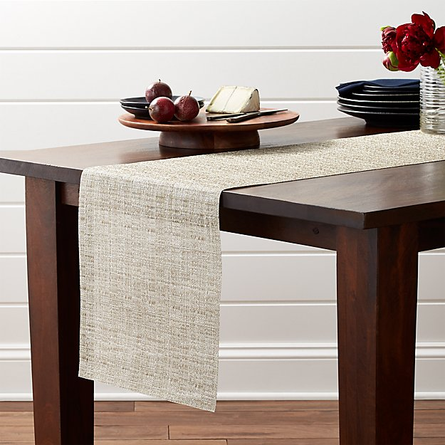 Chilewich Crepe Neutral 72 Table Runner Reviews Crate And Barrel