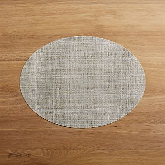 Chilewich Oval Crepe Neutral Vinyl Placemat