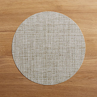 Chilewich Round Crepe Neutral Vinyl Placemat