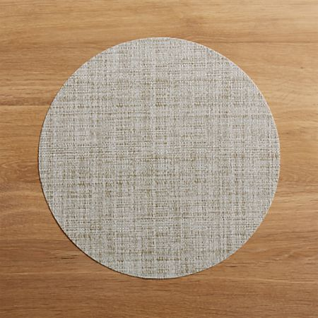 Chilewich Round Crepe Neutral Vinyl
