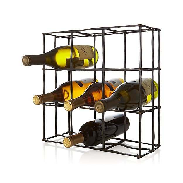 crate wine rack crest 9 bottle wine rack reviews crate and barrel 11825