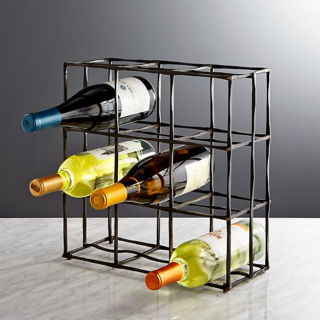 crate wine rack crest 9 bottle wine rack crate and barrel 30215