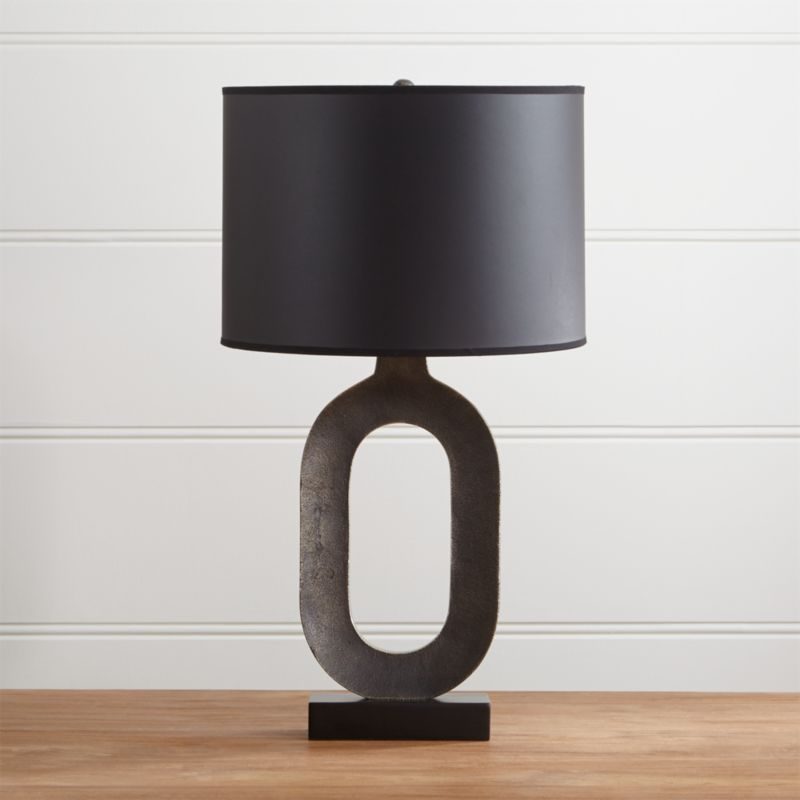 crest gold oval table lamp reviews crate and barrel. Black Bedroom Furniture Sets. Home Design Ideas