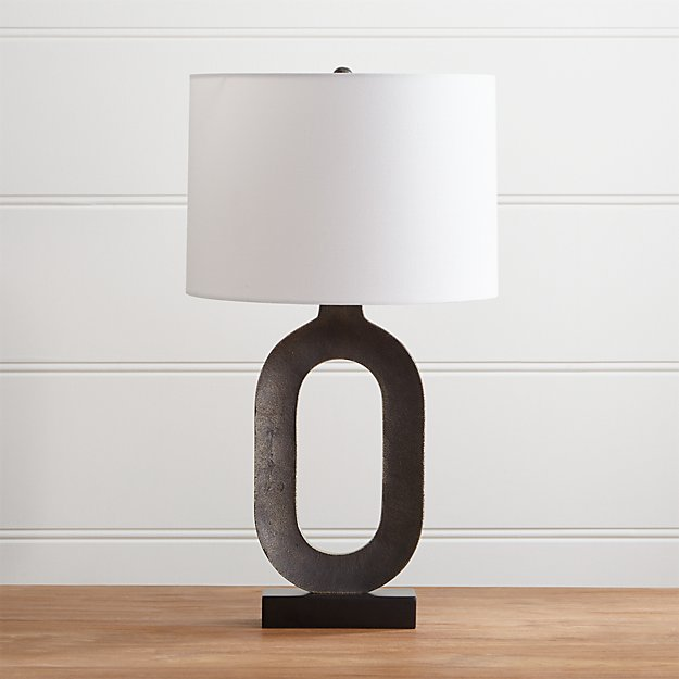 Crest Gold Table Lamp with White Shade