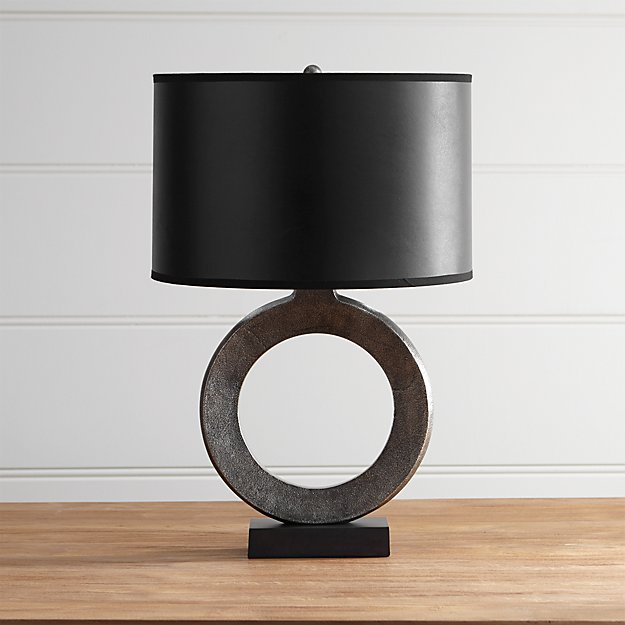 Crest table lamp with black shade reviews crate and barrel mozeypictures Gallery