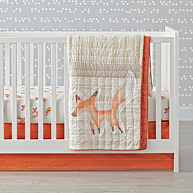 Fox Crib Sheet Reviews Crate And Barrel
