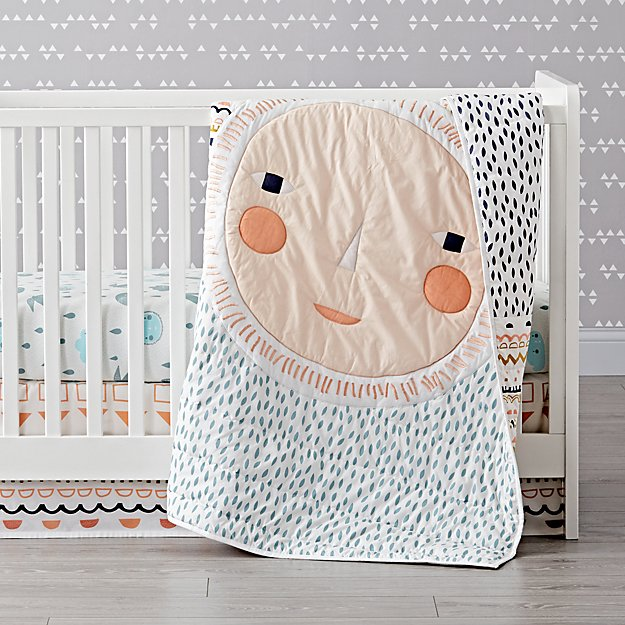 Super Night and Day Crib Bedding | Crate and Barrel FJ98