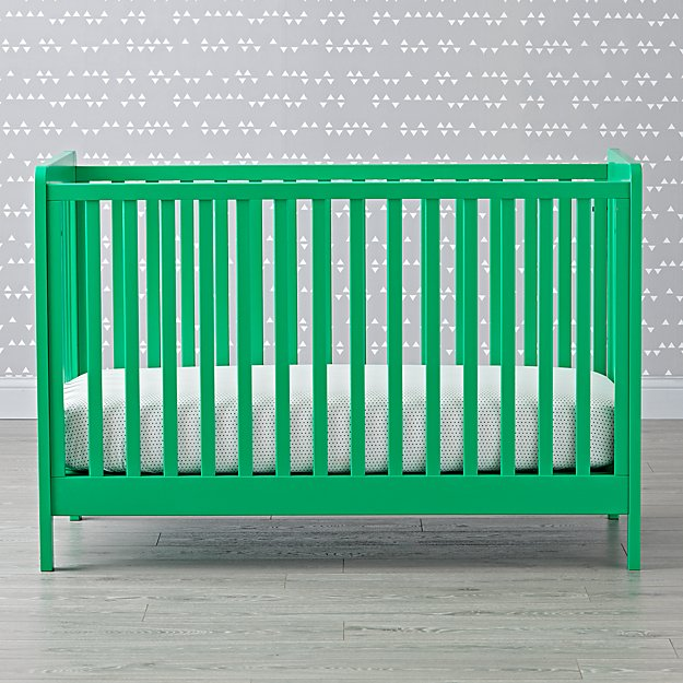 Carousel Crib Kelly Green Reviews Crate And Barrel