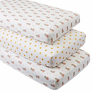 Royal Hippo Crib Fitted Sheets, Set Of 3