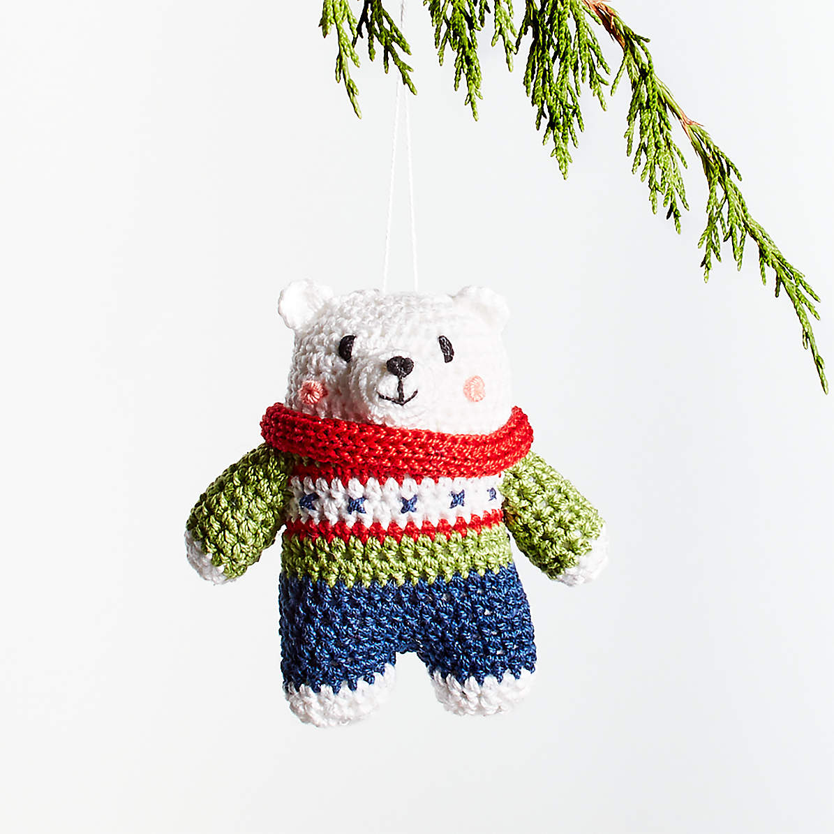 Crochet Bear Christmas Tree Ornament Crate And Barrel