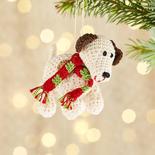 Crochet Dog Ornament
