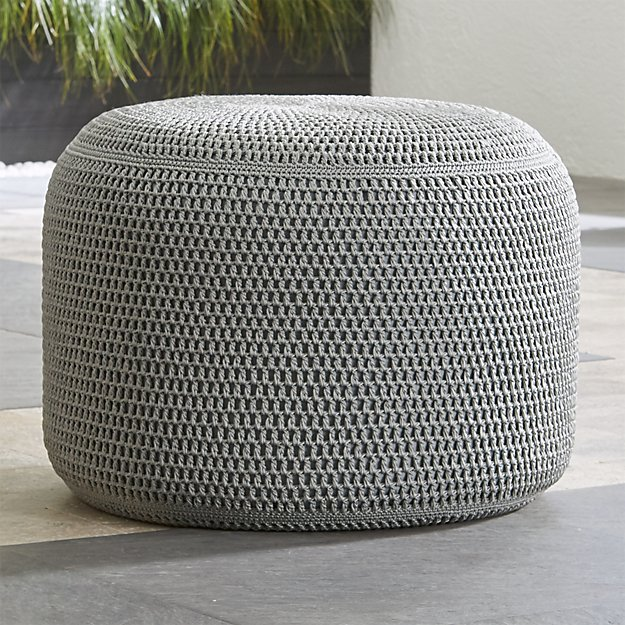 Grey Outdoor Pouf Crate And Barrel